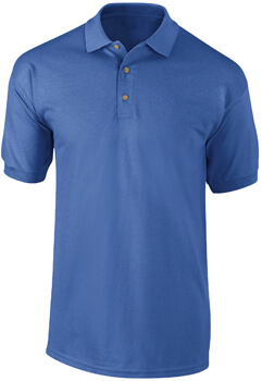 PLAYERA TIPO POLO AZUL