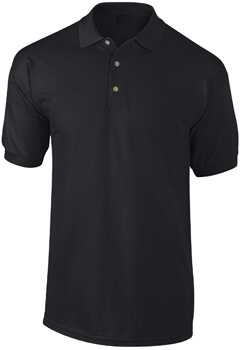 PLAYERA TIPO POLO NEGRA