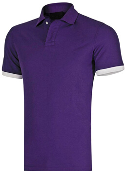 PLAYERA TIPO POLO MORADA